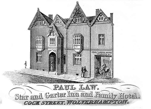 Lithograph 1840 Advertising Star & Garter