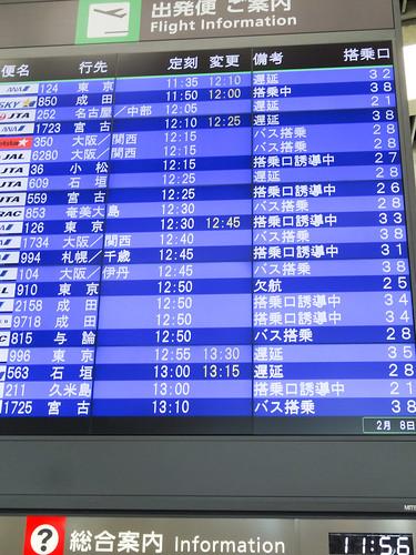 ANA996便で羽田に戻る予定