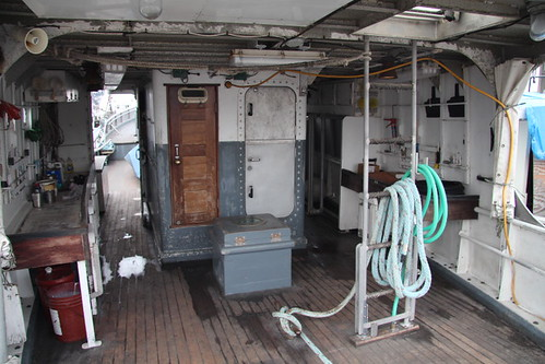 Halibut schooner cleaning area