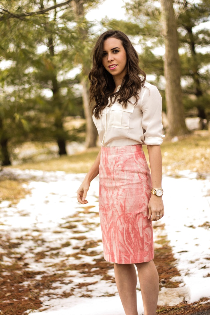 va darling. dc blogger. virginia personal style blogger. dc style. printed skirt. nude heels. white silk blouse. 3