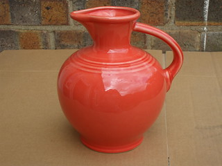 Fiesta Ware USA Orange Pitcher Mid Century Modern £5 Car Boot Sale Find UK