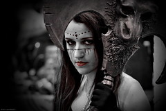 horror, monochrome photography, fictional character, darkness, black,