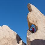Emily in a rock