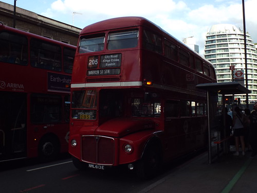 Ex-London Transport RML2613, NML613E at Old Street on route 205 to Warren Street