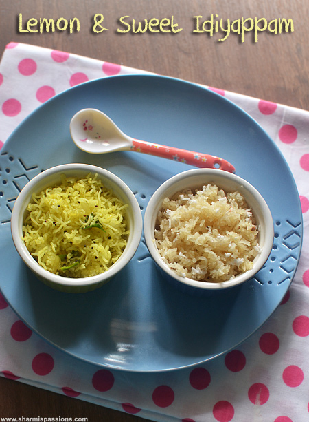 Sweet and Lemon Idiyappam Varietie