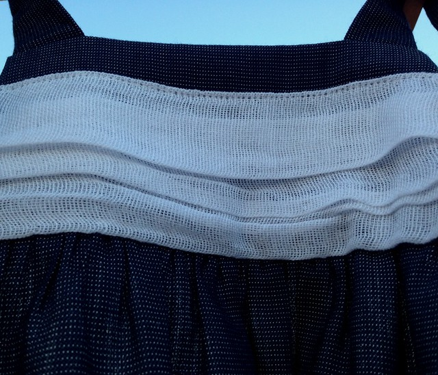 cuerpo drapeado en gasa de algodón