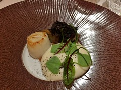 Coquille Saint-Jacques - Chicon, truffe, souplesse topinambour/parmesan, lait de champignon