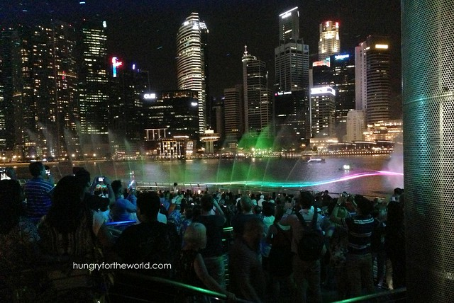 Light, sound, and water at Marina Bay Sands