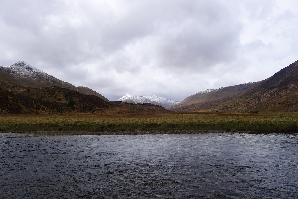 Looking across the River Affric to Beinn Fhada
