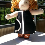 "Black Cotton Dress for 15"" Dolls by Catarina Yarn Craft"