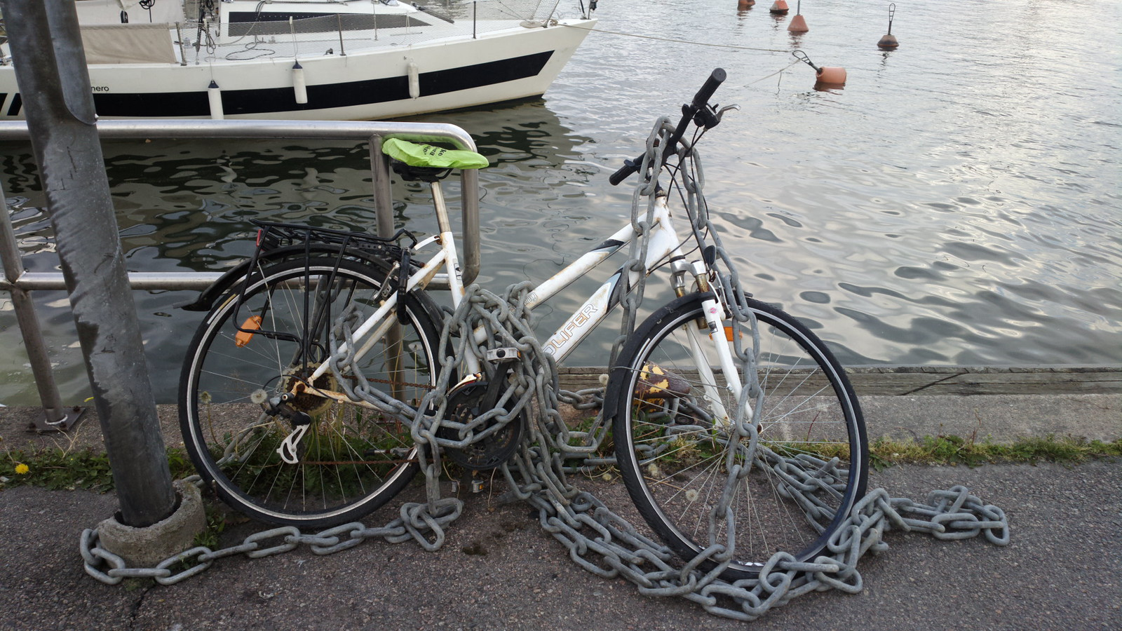 Always remember to chain up your bicycle.