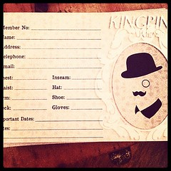 The Kingpin membership cards are in! Stop by and get measured up! #suitup #vintage #vintagestyle #menswear #membershiphasitsprivileges #toronto #torontovintage #kingpinchic #dandy #dapper