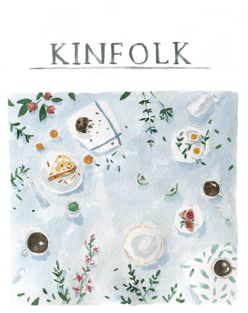 Watercolor Kinfolk fan art by Dara Muscat