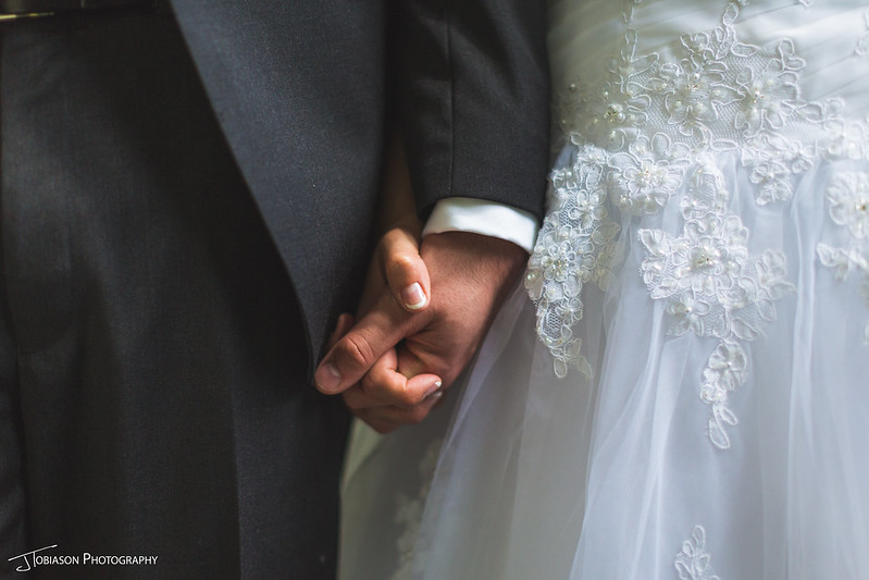 holding hands wedding