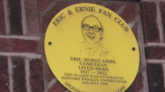 Photo of Eric Morecambe yellow plaque