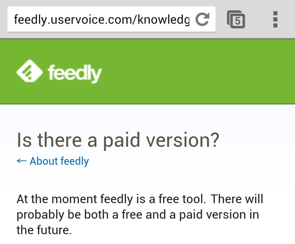 広告もないし無料のFeedlyの運営...