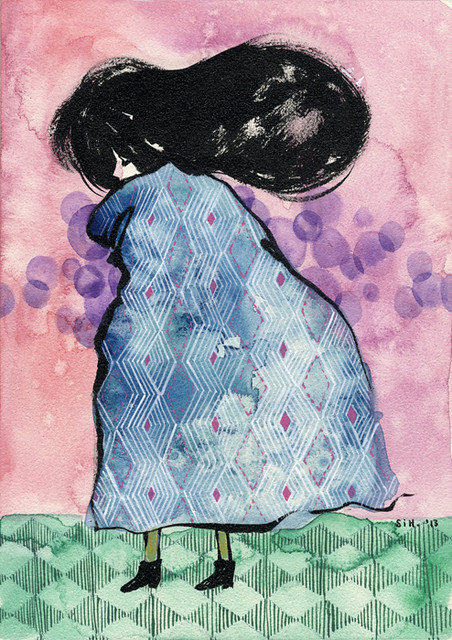 "Nartaka 2. 5"" x 7"". Ink & Watercolor on Aquabord (Masonite). © 2013."