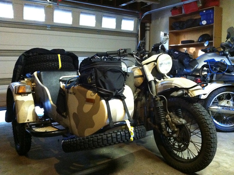 Ural packed and ready to go.
