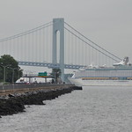Explorer of The Seas Approaching the Verrazano Bridge