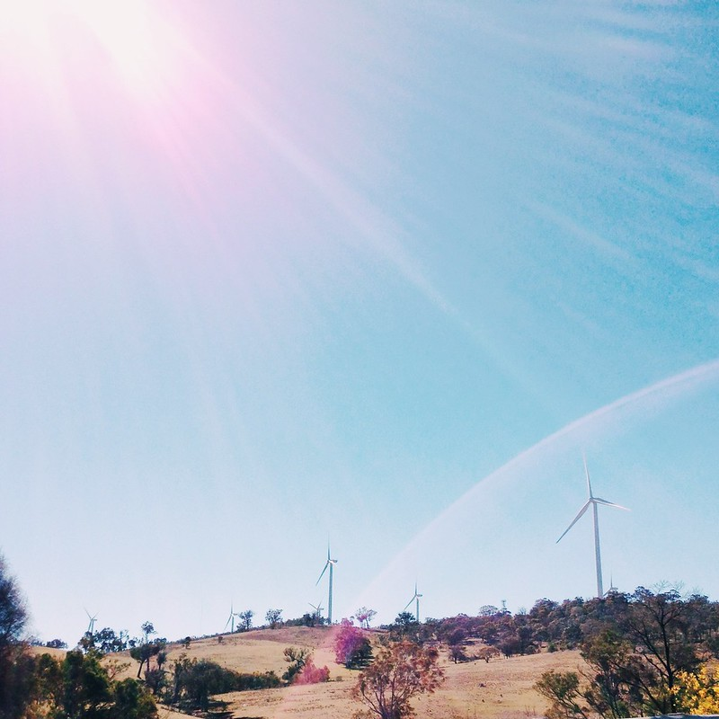 Snapshots // September 1 ~ passing the wind farm