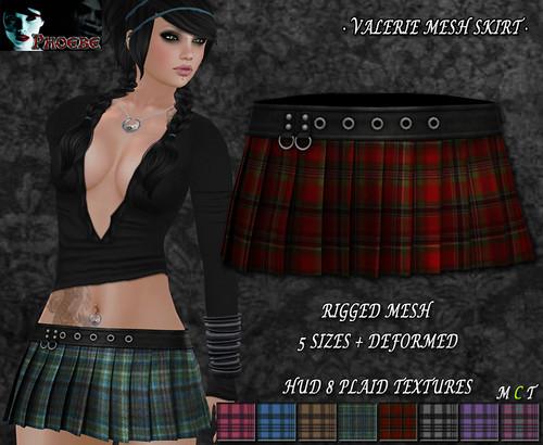 P Valerie MESH Skirt ~Plaids HUD~