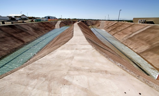 Water flumes at Buckman Direct Diversion Project