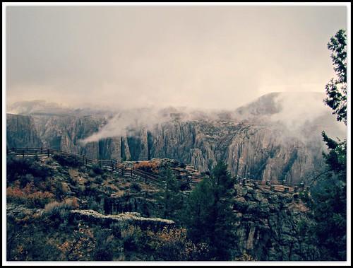 autumn fog clouds rural colorado canyon enhanced blackcanyonofthegunnison blackcanyonofthegunnisonnationalpark montrosecolorado