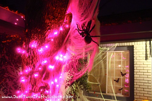 Creepy spider halloween decoration