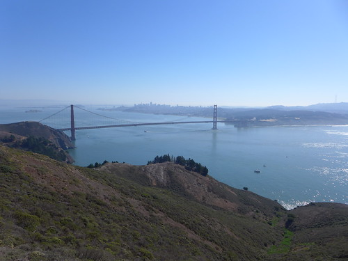Golden Gate Bridge under the sun