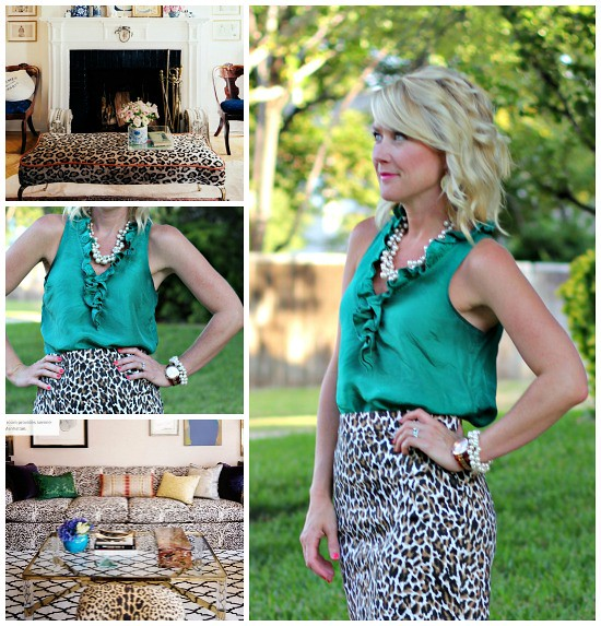 Hi Sugarplum | {Outfit Inspiration} Green & Leopard