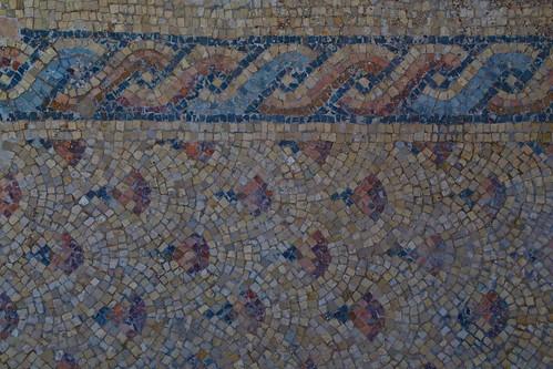 Roman mosaic double helix Caesarea