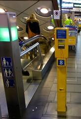 Dutch Train Ticket Punch Machine at Schiphol Airport