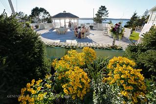 Deck Reception at Spruce Point Inn