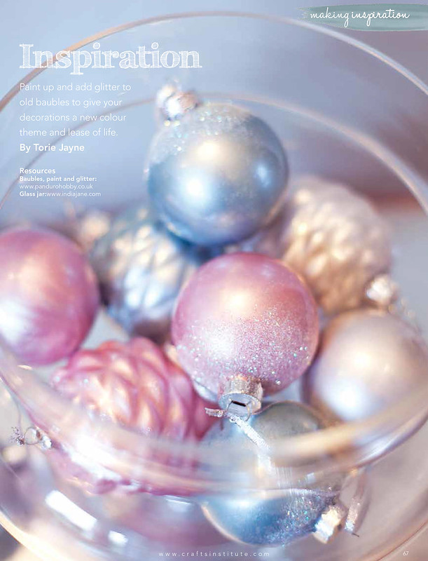 Painted baubles in Making Magazine