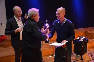 Brassbandfestivalen 2013 - Patrik Juhlin, Betlehemskyrkans Musikkår tar emot 2.a pris i Elit-divisionen (Foto: Olof Forsberg)