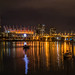 Cambie Street Bridge and False Creek showing BC Place stadium by atruwcdx