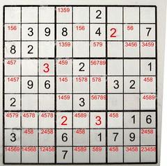 Sudoku possibilities