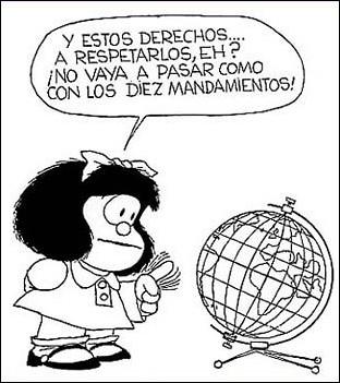Viñeta Mafalda (derechos infancia)