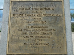 Photo of Abel Tasman bronze plaque