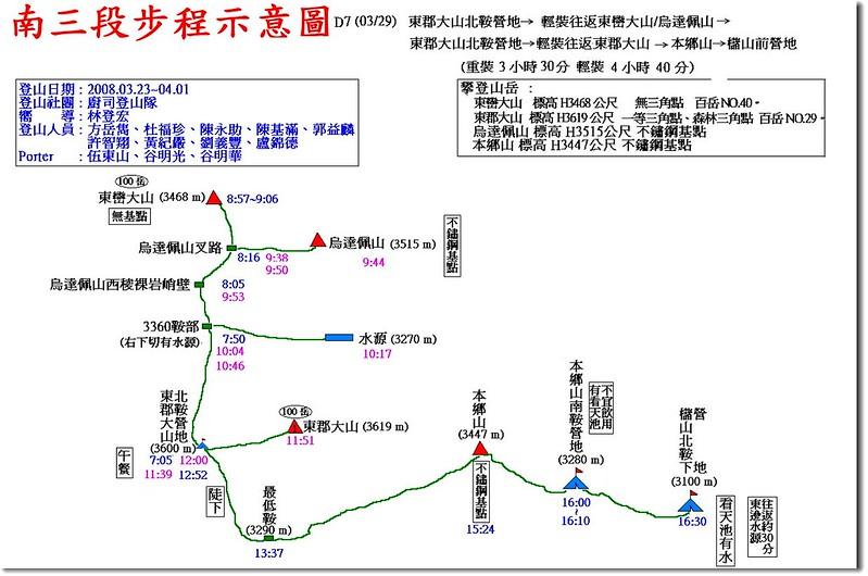 南三段步程示意圖(7)