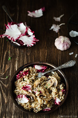 Risotto With Quinoa, Mushrooms And Lettuce