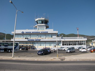 Airport of Lesbos Island