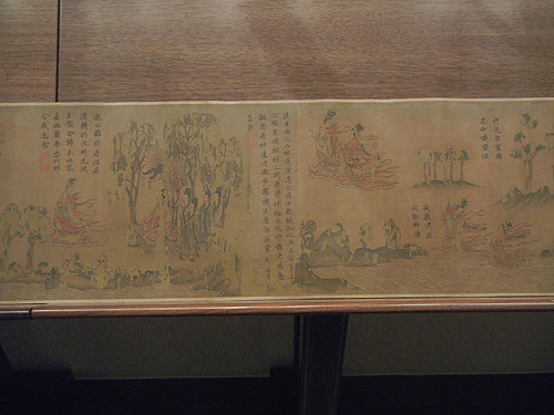DSCN6196 _ 摹顾恺之洛神赋图 Copy of Ode to Goddess of River Luo by Kaizhi FU (detail), 佚名 Anonymous, 北宋 Northern Song Dynasty, 26.3x641.6cm, Liaoning Museum, Shenyang, China