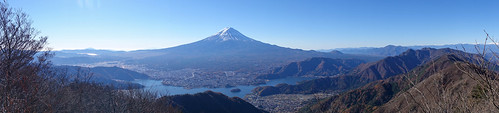 Panorama of Mt.Fuji and Fuji 5 Lakes(2)