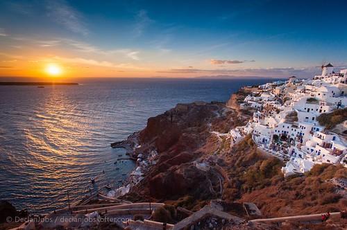 旅游 旅行 日落 风光 摄影 色彩 圣托里尼 希腊 后期