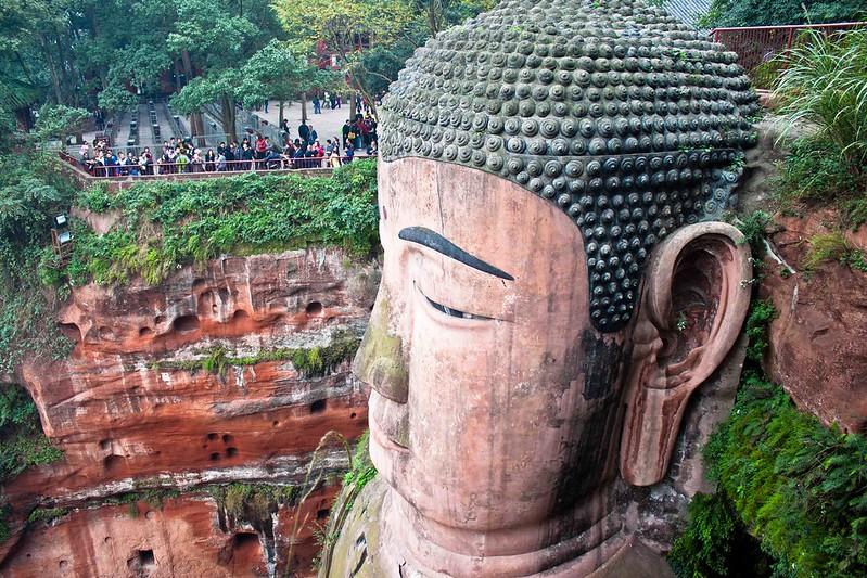 Cabeza del Gran Buda de Leshan