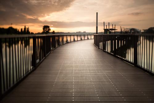 lines sunrise vanishingpoint singapore jetty vignette lowerseletarreservoir tilteffect singhraylbwarmingpolarizer canoneos5dmarkiii canontse24mmf35lii leendgradfilter lee12ndfilter canongpsreceivergpe2