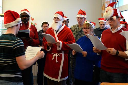 Sabers sing to elderly