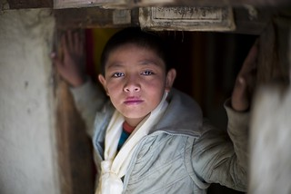 Child   Phu  Village  Nepal  4070 mt   (Leica  M Type 240 + Noctilux f1 E58 @f1)