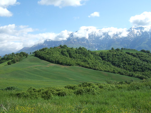 House and Gran Sasso from North - May (b)